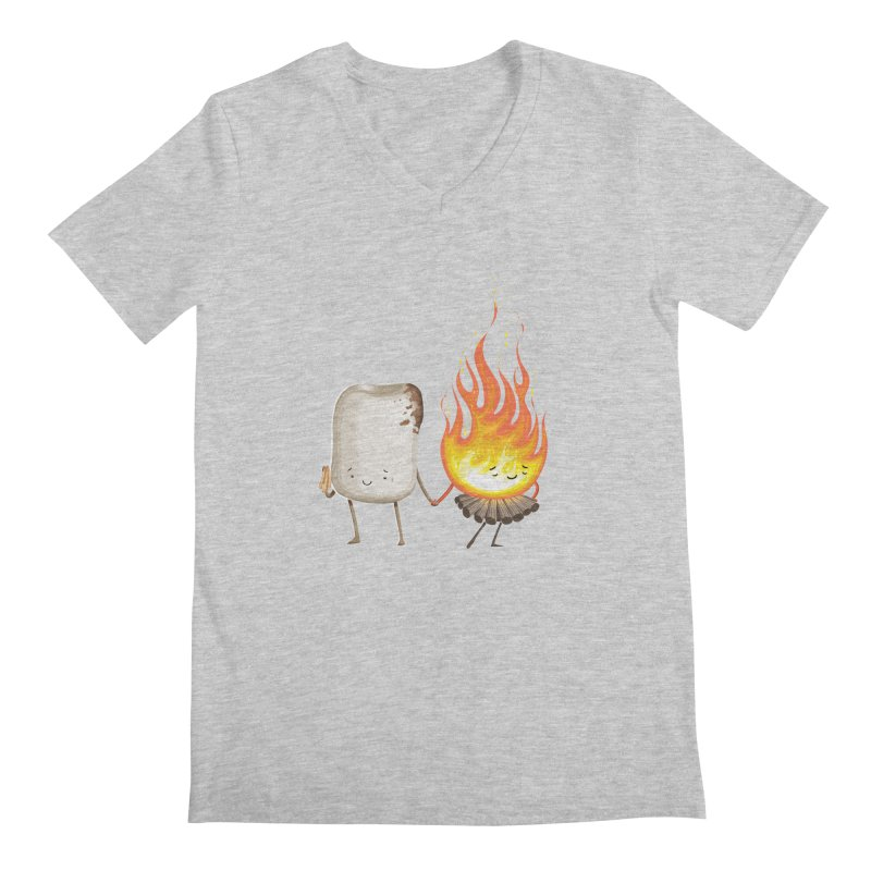 Marshmallove Men's V-Neck by Tiago Möller Art Shop