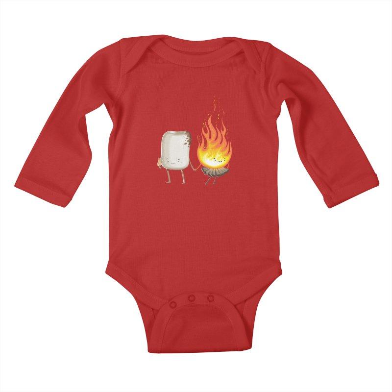 Marshmallove Kids Baby Longsleeve Bodysuit by Tiago Möller Art Shop