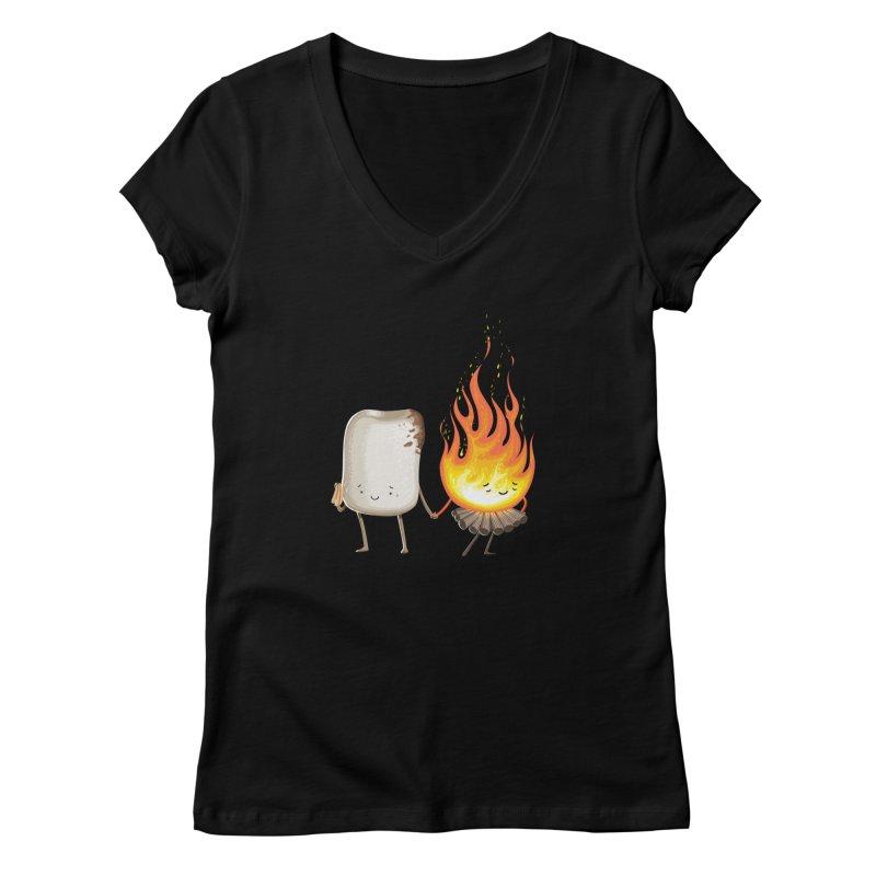 Marshmallove Women's V-Neck by T2U