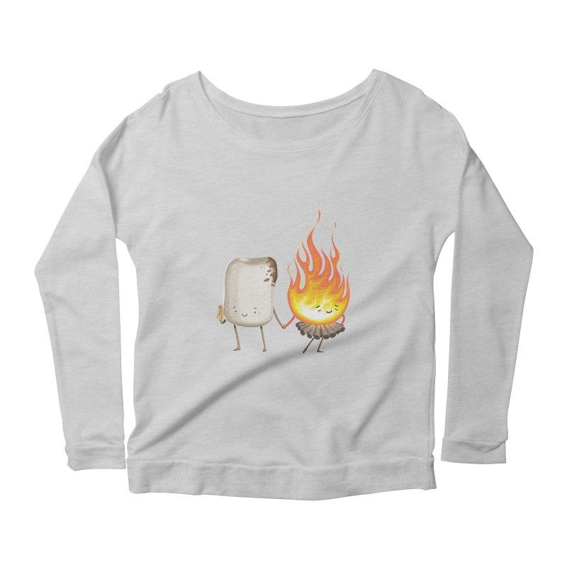 Marshmallove Women's Scoop Neck Longsleeve T-Shirt by T2U
