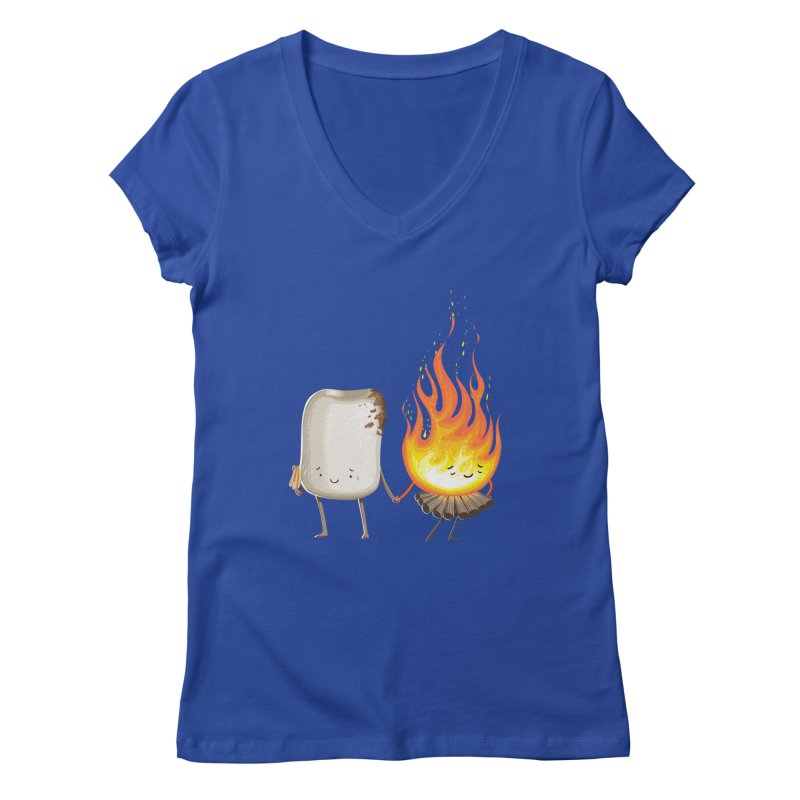 Marshmallove Women's V-Neck by T2U