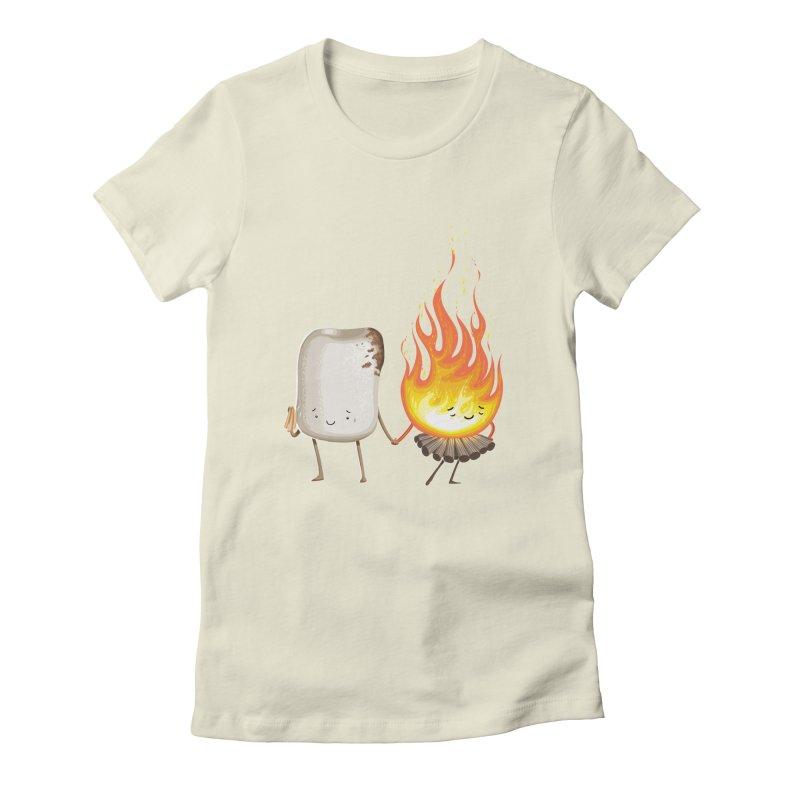 Marshmallove Women's Fitted T-Shirt by Tiago Möller Art Shop