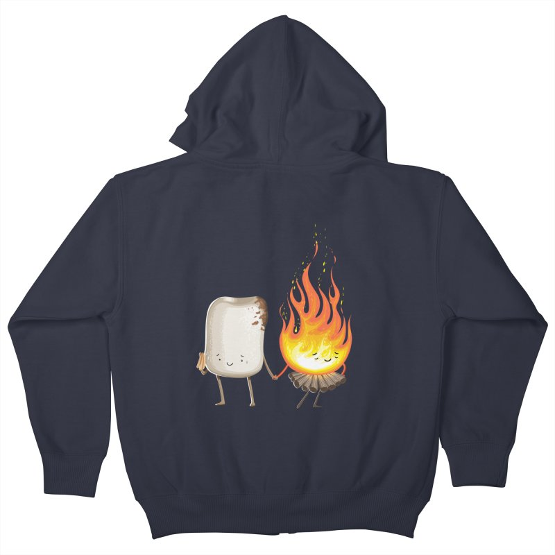 Marshmallove Kids Zip-Up Hoody by Tiago Möller Art Shop