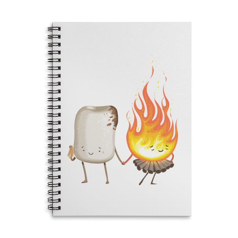 Marshmallove Accessories Lined Spiral Notebook by T2U