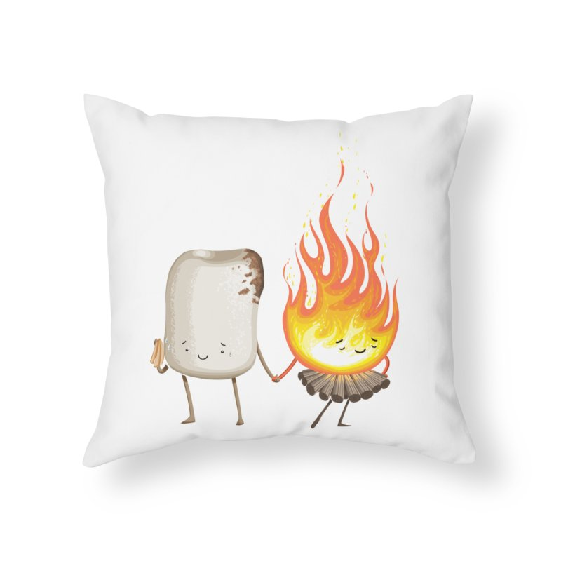 Marshmallove Home Throw Pillow by T2U