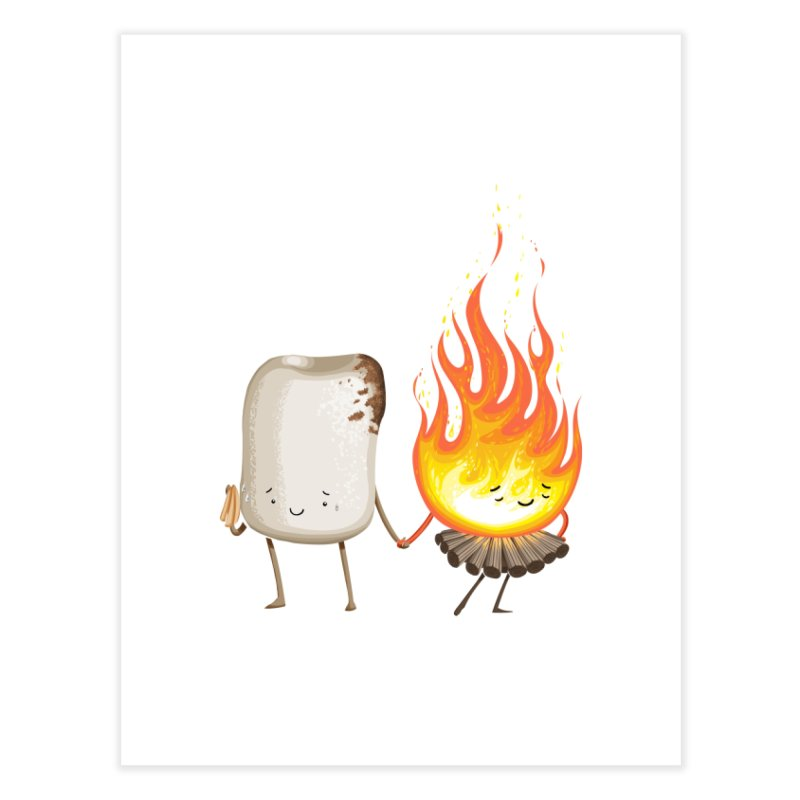 Marshmallove Home Fine Art Print by T2U