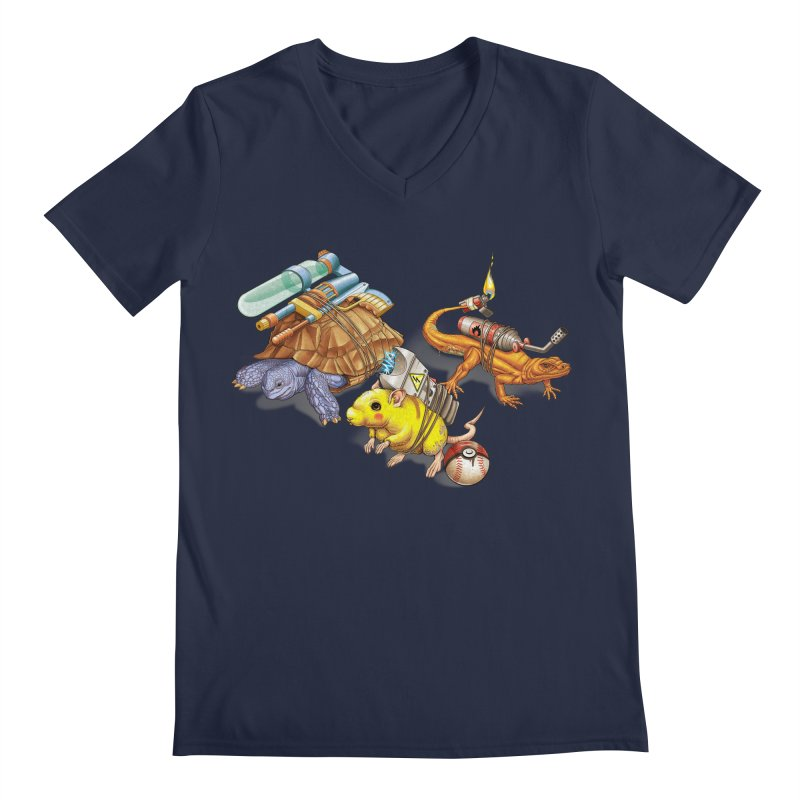 Real Pocket Monsters Men's V-Neck by Tiago Möller Art Shop