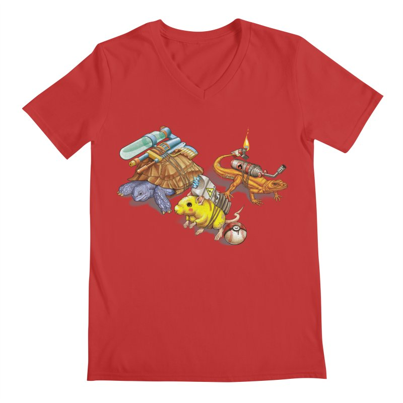 Real Pocket Monsters Men's Regular V-Neck by T2U