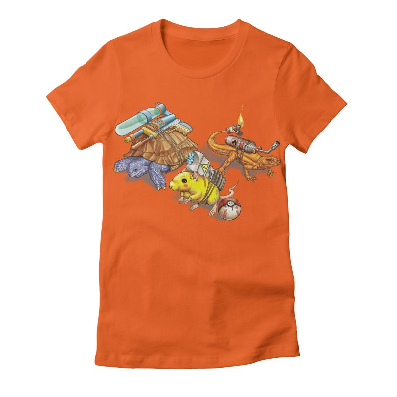 Real Pocket Monsters Women's Fitted T-Shirt by Tiago Möller Art Shop