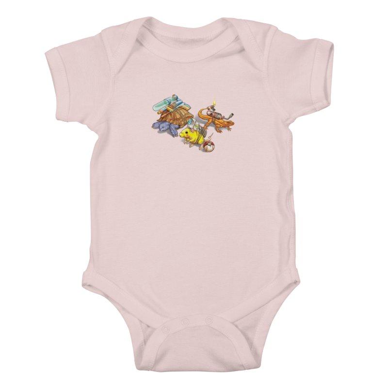Real Pocket Monsters Kids Baby Bodysuit by T2U