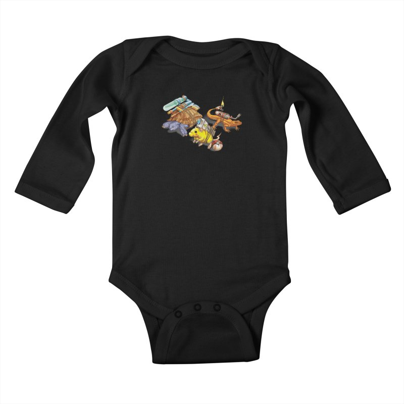 Real Pocket Monsters Kids Baby Longsleeve Bodysuit by Tiago Möller Art Shop