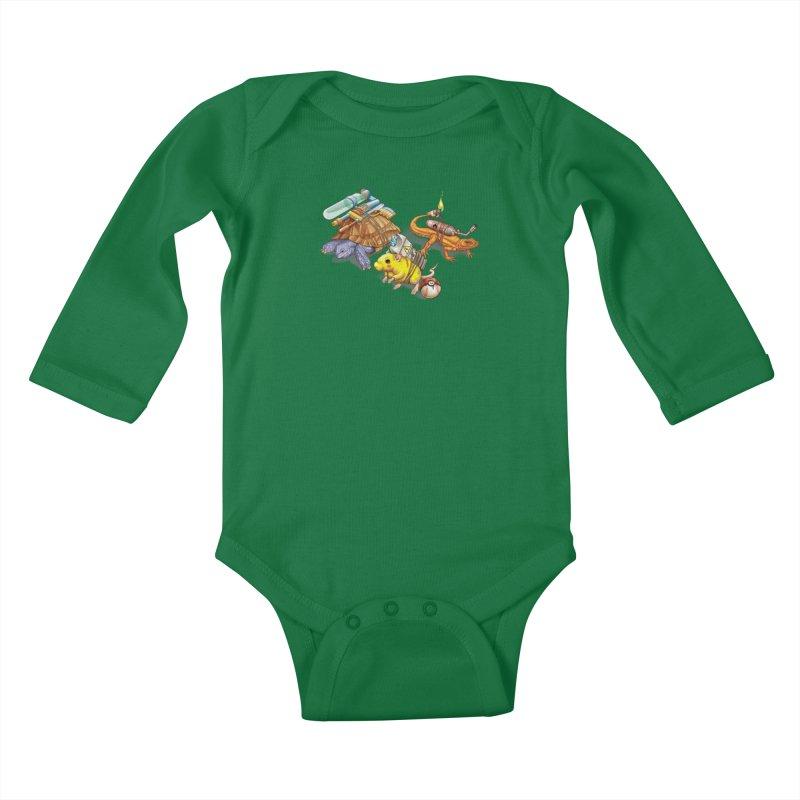 Real Pocket Monsters Kids Baby Longsleeve Bodysuit by T2U