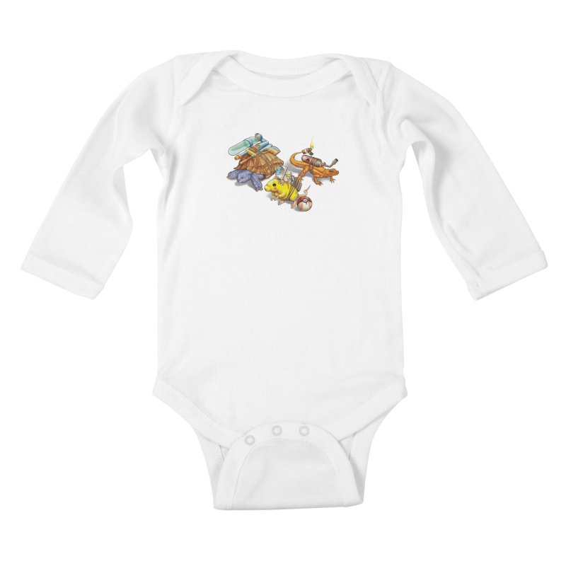 Real Pocket Monsters Kids Baby Longsleeve Bodysuit by T2U