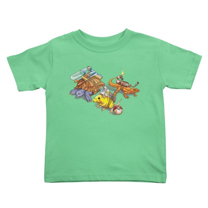 Real Pocket Monsters Kids Toddler T-Shirt by Tiago Möller Art Shop