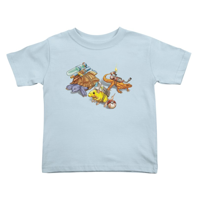 Real Pocket Monsters Kids Toddler T-Shirt by Tiago Möller Art Shop