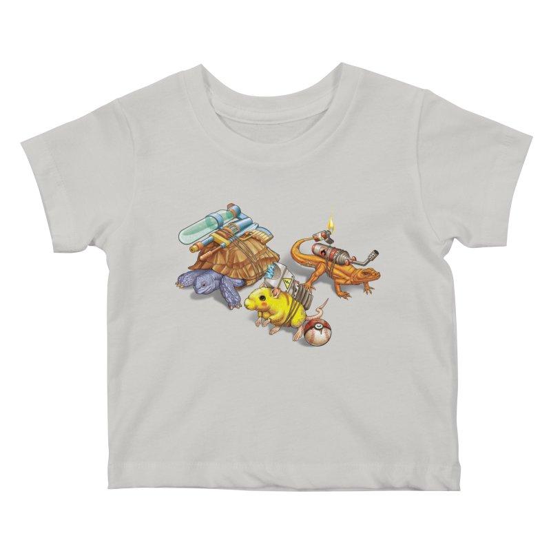 Real Pocket Monsters Kids Baby T-Shirt by Tiago Möller Art Shop