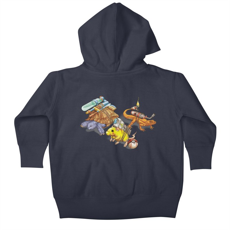 Real Pocket Monsters Kids Baby Zip-Up Hoody by T2U
