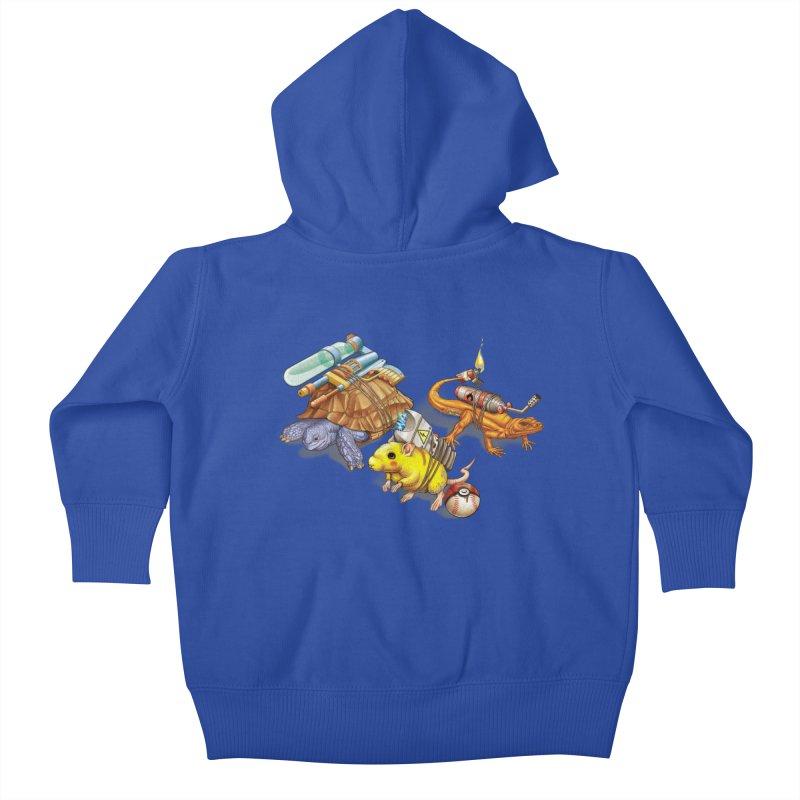 Real Pocket Monsters Kids Baby Zip-Up Hoody by T2U