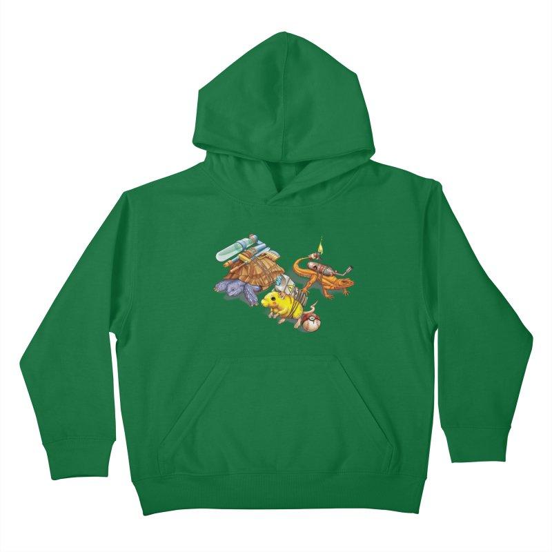 Real Pocket Monsters Kids Pullover Hoody by T2U