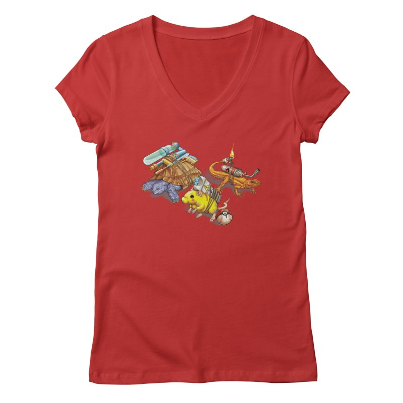 Real Pocket Monsters Women's V-Neck by T2U