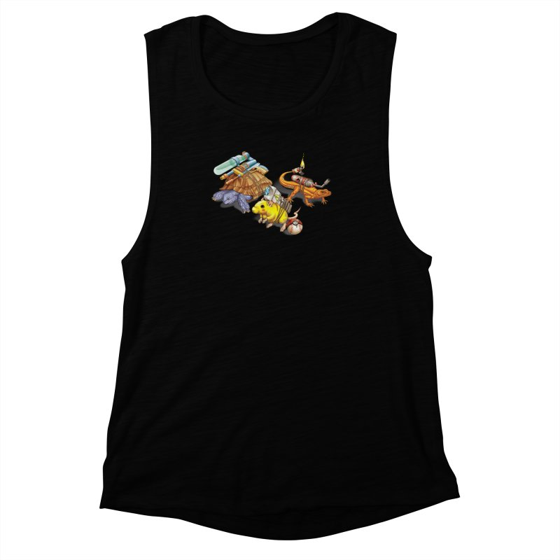 Real Pocket Monsters Women's Muscle Tank by Tiago Möller Art Shop