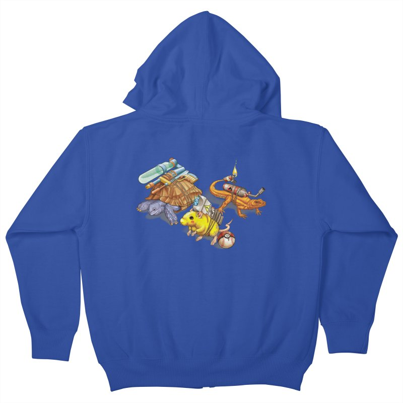 Real Pocket Monsters Kids Zip-Up Hoody by Tiago Möller Art Shop