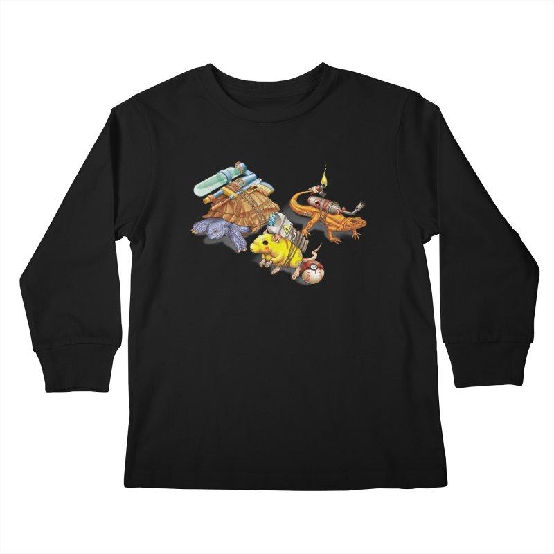 Real Pocket Monsters Kids Longsleeve T-Shirt by T2U
