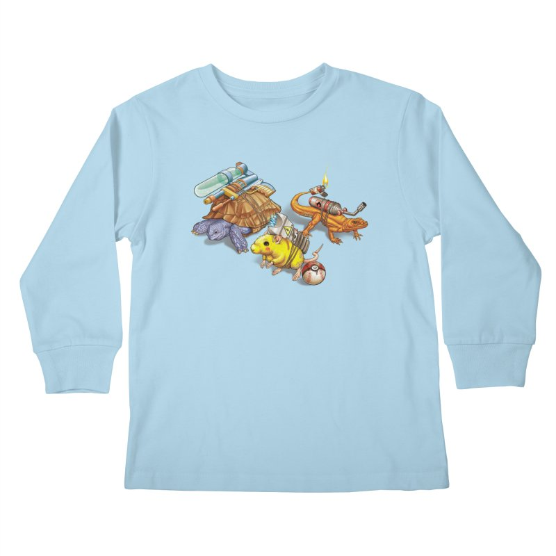 Real Pocket Monsters Kids Longsleeve T-Shirt by T2U