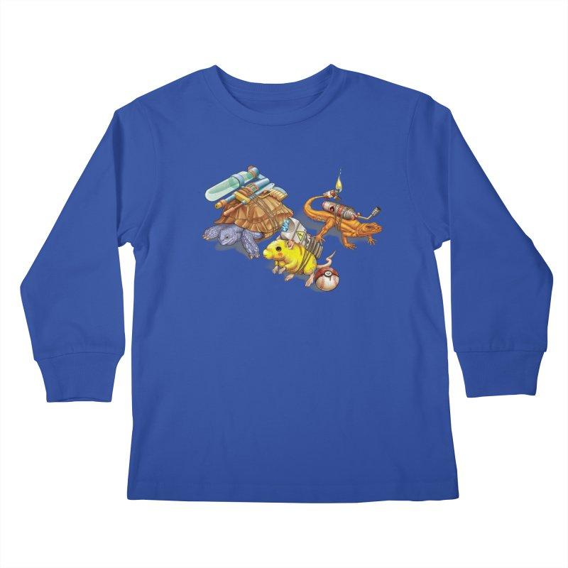 Real Pocket Monsters Kids Longsleeve T-Shirt by Tiago Möller Art Shop