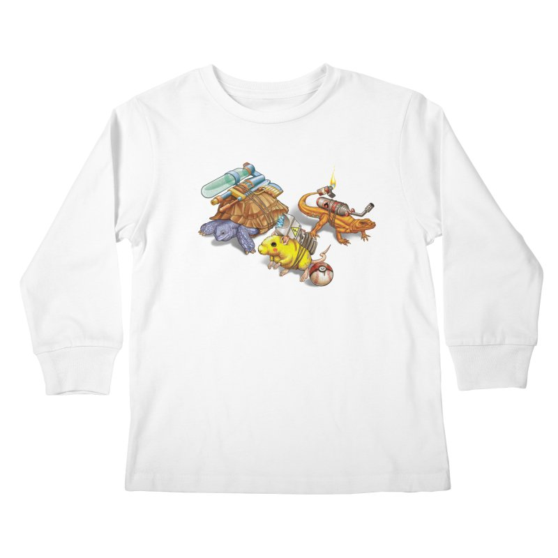 Real Pocket Monsters Kids Longsleeve T-Shirt by Tiago Möller Art Shop