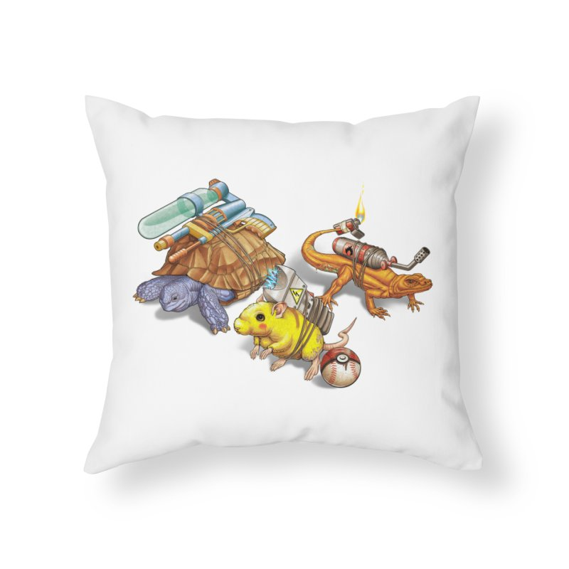 Real Pocket Monsters Home Throw Pillow by Tiago Möller Art Shop