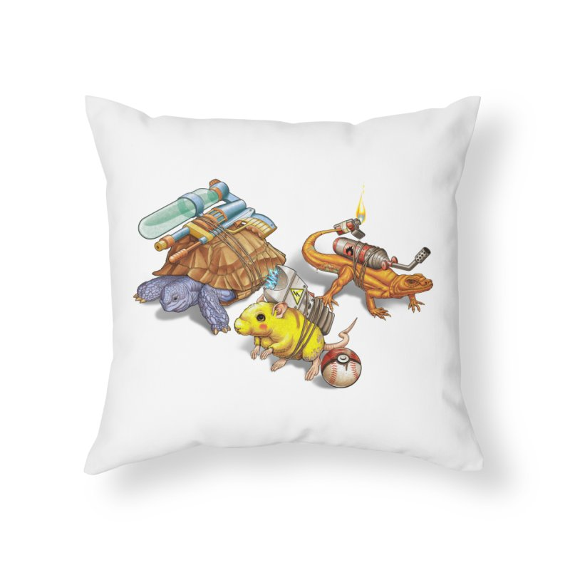 Real Pocket Monsters Home Throw Pillow by T2U