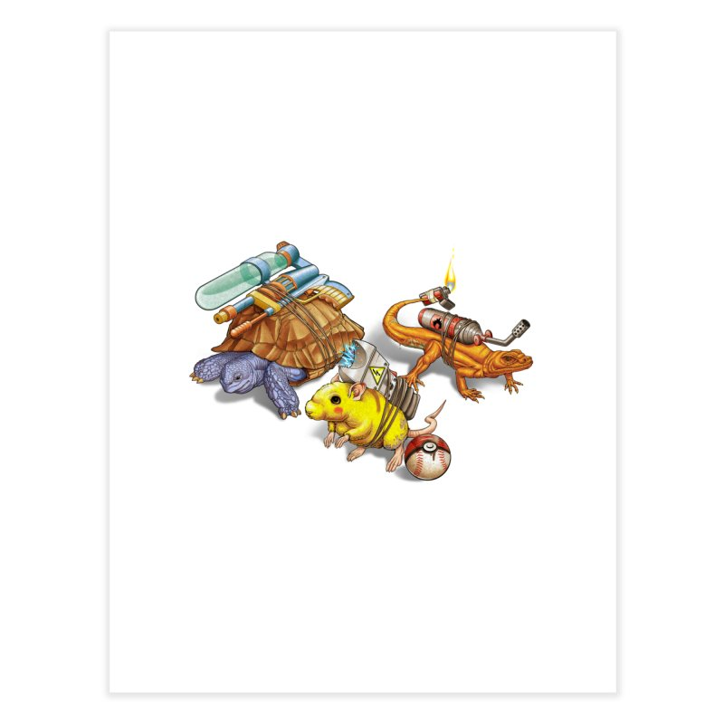 Real Pocket Monsters Home Fine Art Print by T2U