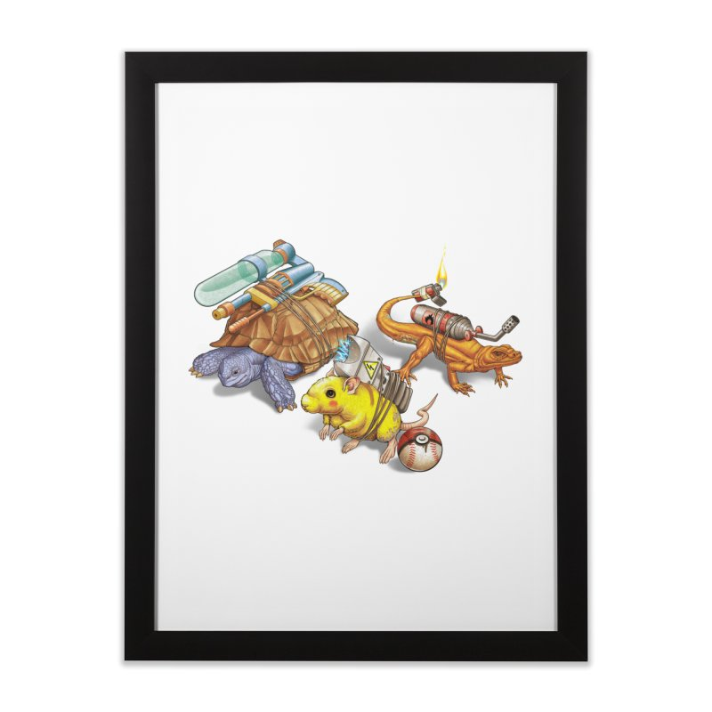 Real Pocket Monsters Home Framed Fine Art Print by T2U