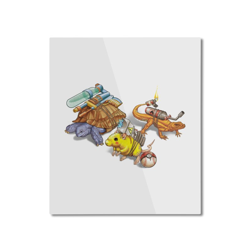 Real Pocket Monsters Home Mounted Aluminum Print by T2U
