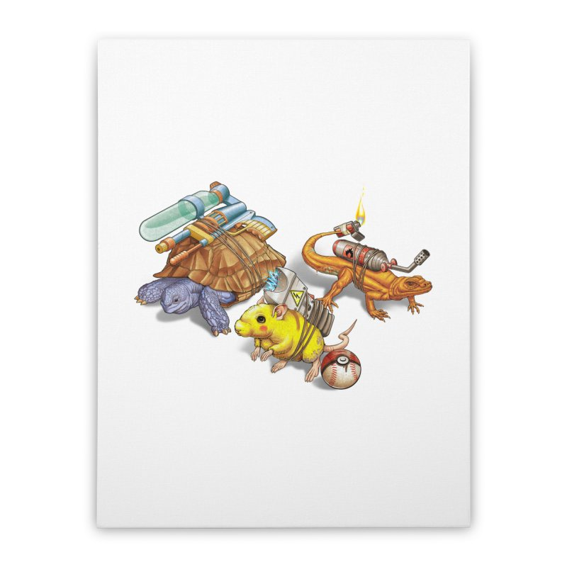 Real Pocket Monsters Home Stretched Canvas by Tiago Möller Art Shop