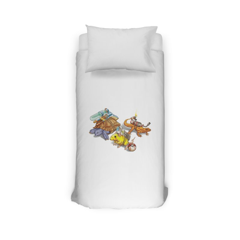 Real Pocket Monsters Home Duvet by T2U