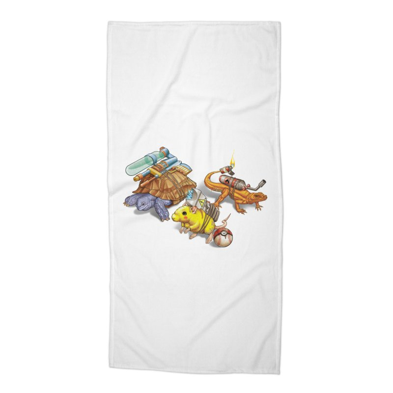 Real Pocket Monsters Accessories Beach Towel by Tiago Möller Art Shop