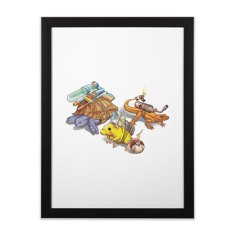 Real Pocket Monsters Home Framed Fine Art Print by T2U