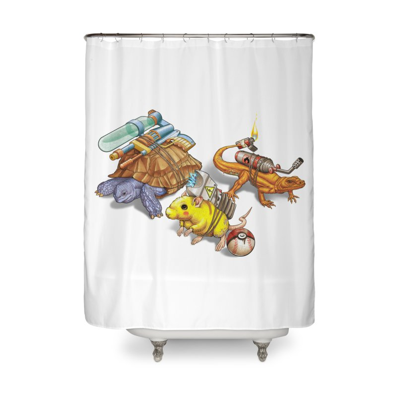 Real Pocket Monsters Home Shower Curtain by T2U