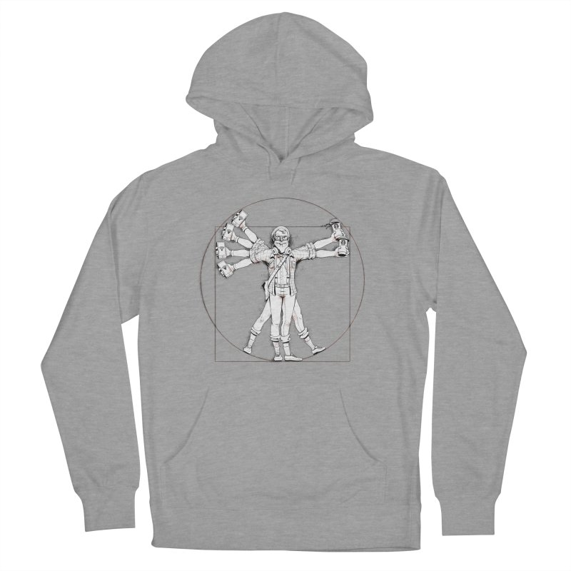Hipstruvian Man Women's Pullover Hoody by Tiago Möller Art Shop