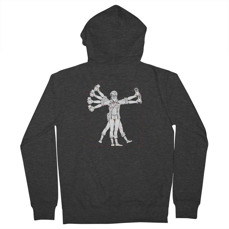 Hipstruvian Man Men's Zip-Up Hoody by T2U