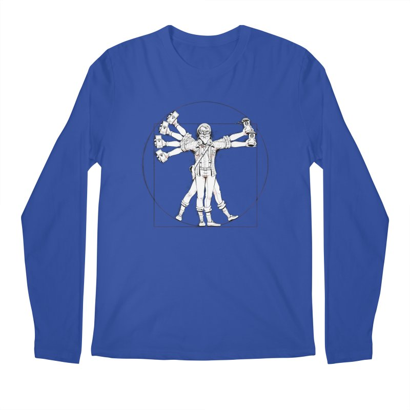 Hipstruvian Man Men's Longsleeve T-Shirt by Tiago Möller Art Shop