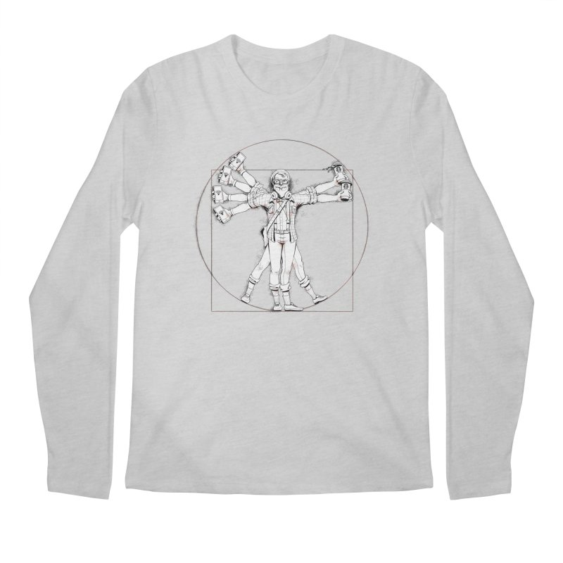 Hipstruvian Man Men's Longsleeve T-Shirt by Tiago Möller Art Shop
