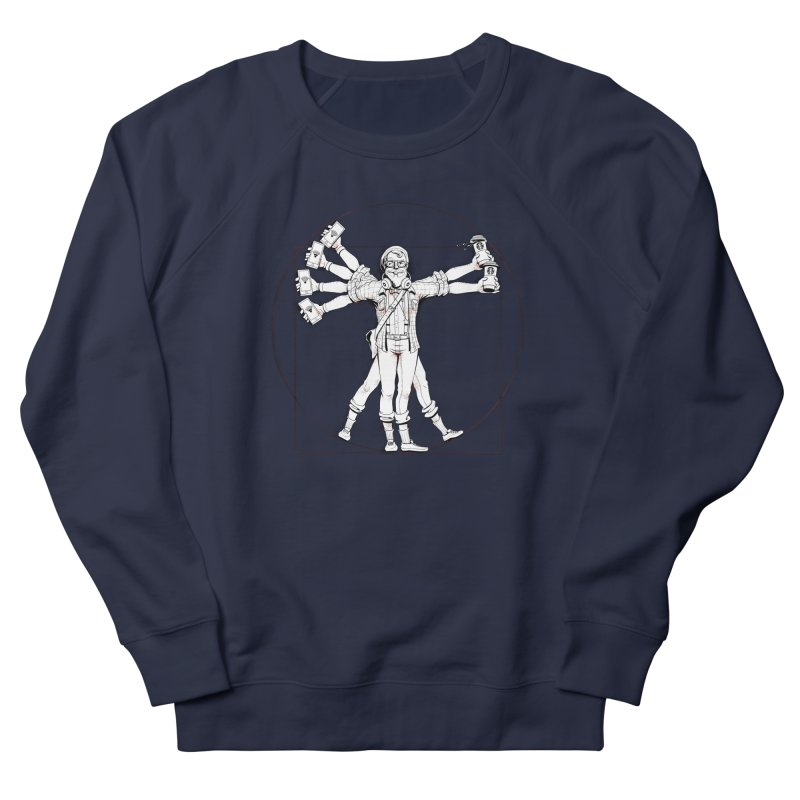 Hipstruvian Man Men's Sweatshirt by Tiago Möller Art Shop