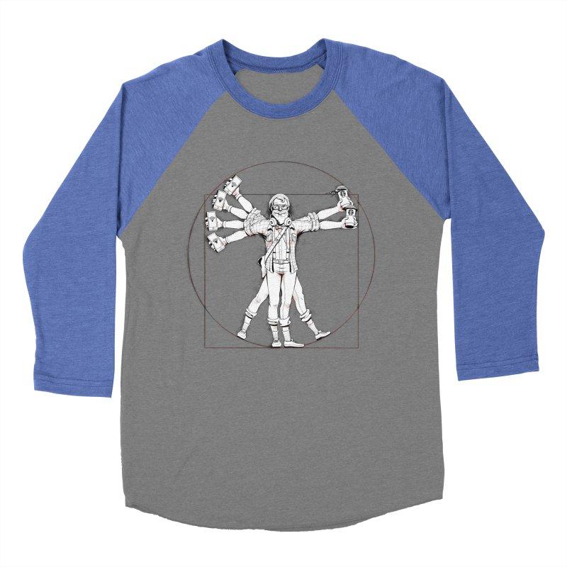 Hipstruvian Man Men's Baseball Triblend T-Shirt by Tiago Möller Art Shop