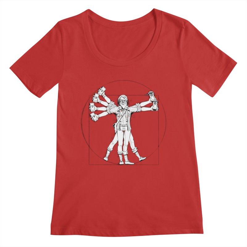 Hipstruvian Man Women's Regular Scoop Neck by T2U