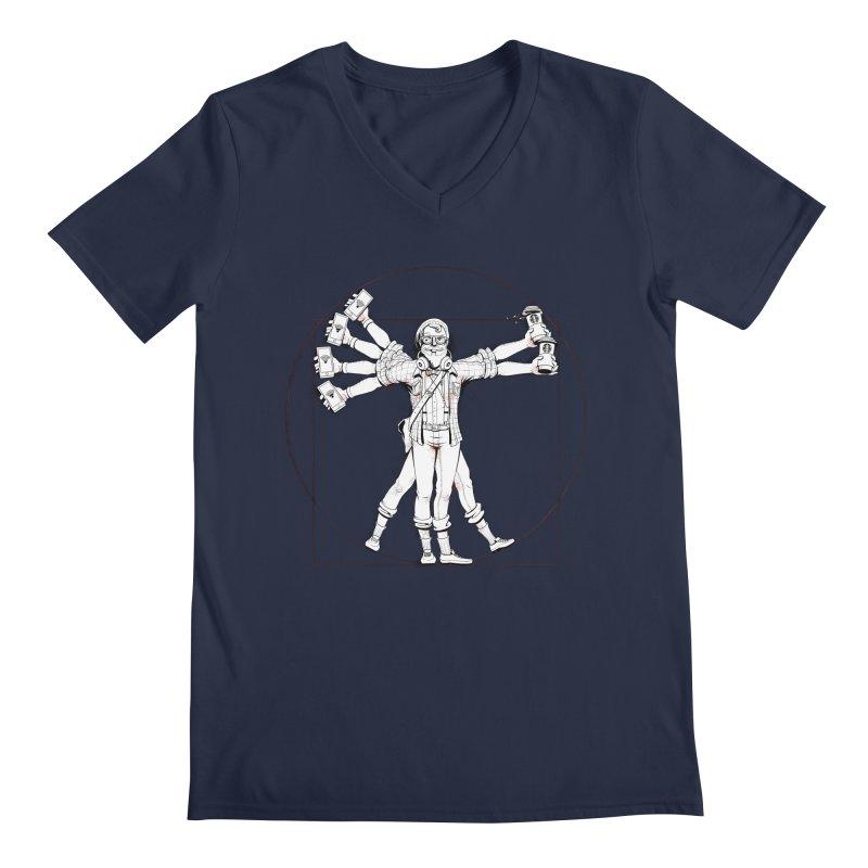 Hipstruvian Man Men's Regular V-Neck by T2U
