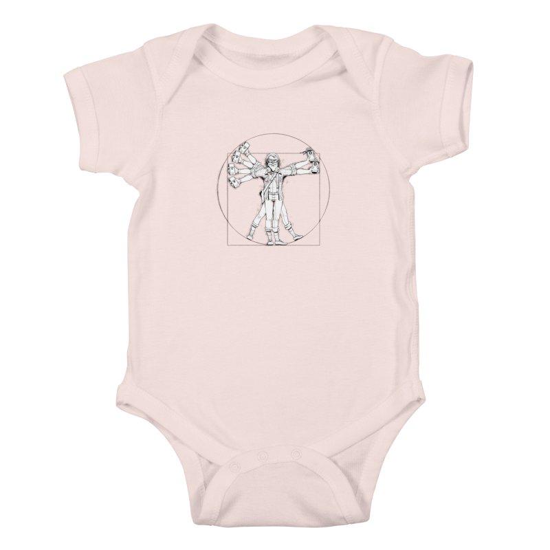 Hipstruvian Man Kids Baby Bodysuit by Tiago Möller Art Shop
