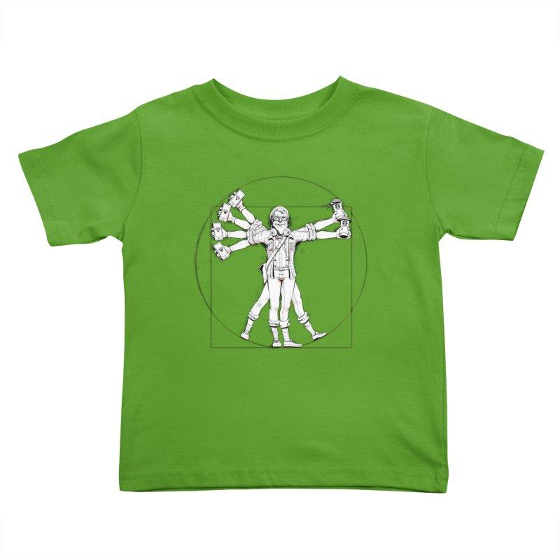 Hipstruvian Man Kids Toddler T-Shirt by T2U
